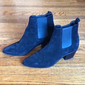 Yves Saint Laurent Black Suede Ankle Boots 36.5